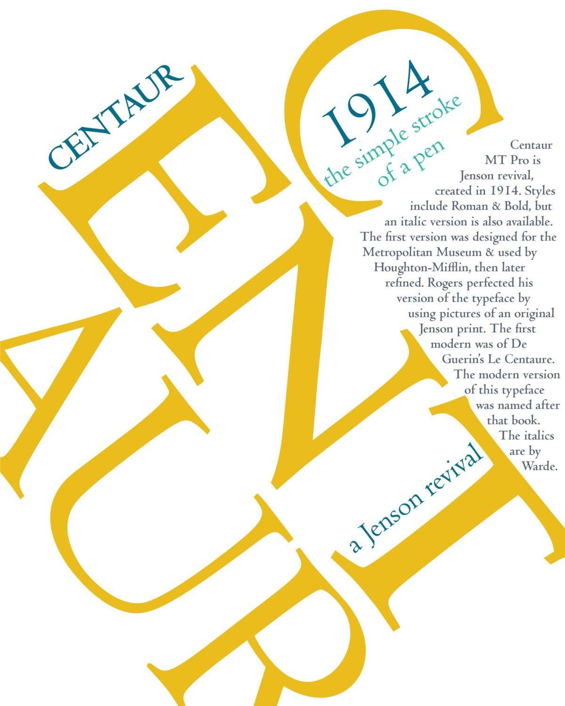 Centaur Font Poster