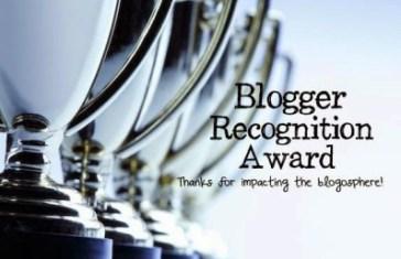 Blogger Recognition Award Image