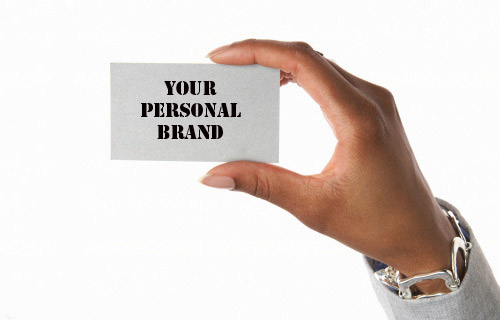 business card with personal brand text
