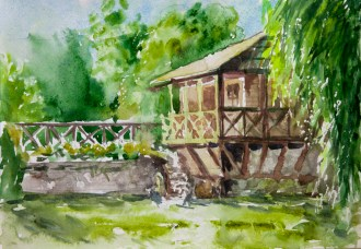 Truskavets. Watercolor, paper