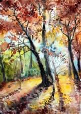 Autumn. Watercolor, paper