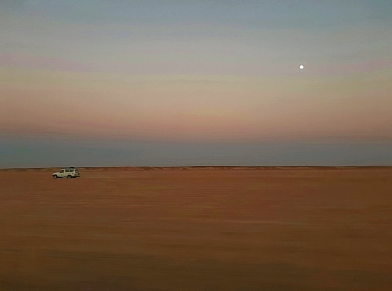 Moon in the desert of Hurghada