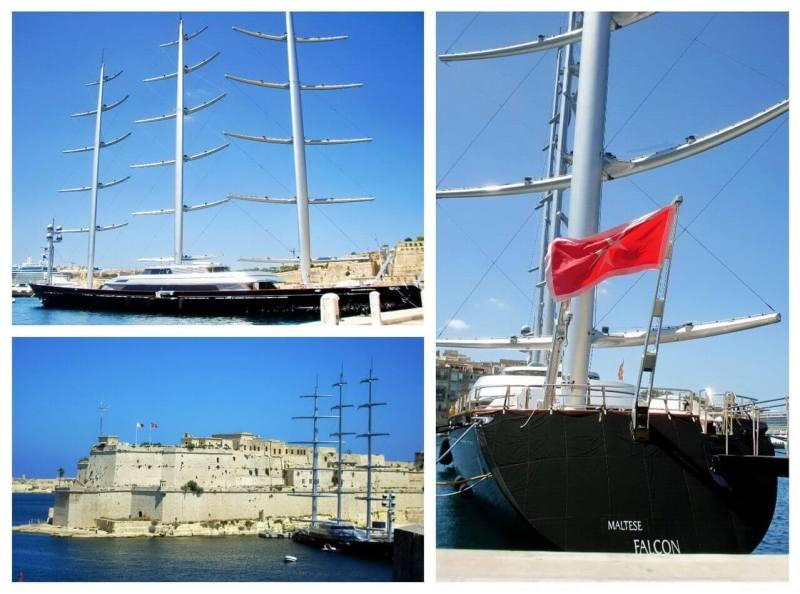 Maltese Falcon yacht, Grand Harbour, Malta, 2012.