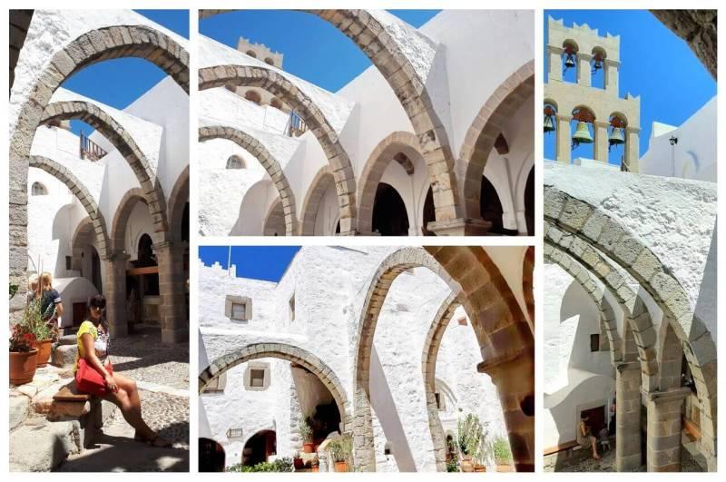 White arches in St John monastery