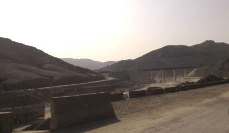 Kabul Rail tracks, now abandoned, mark the progress of the newly-paved road