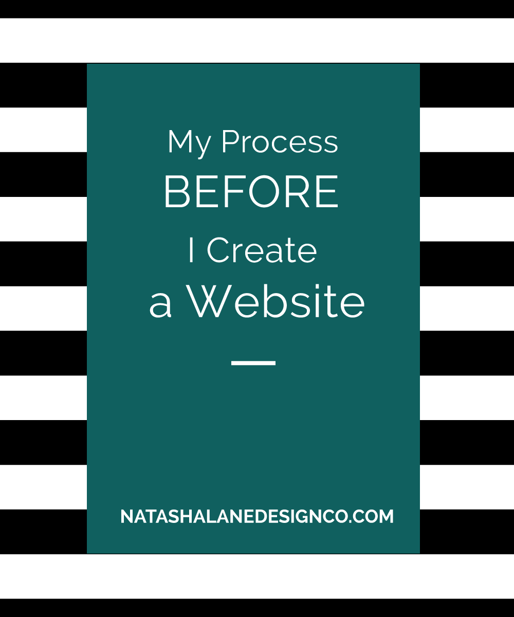 Blog title-My Process Before I Create a Website
