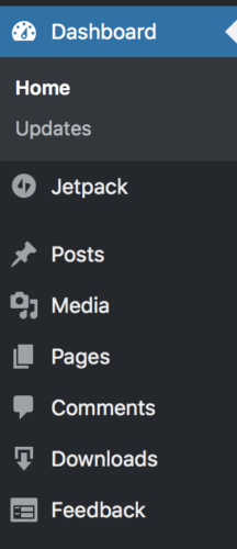 Wordpress Dashboard- Posts