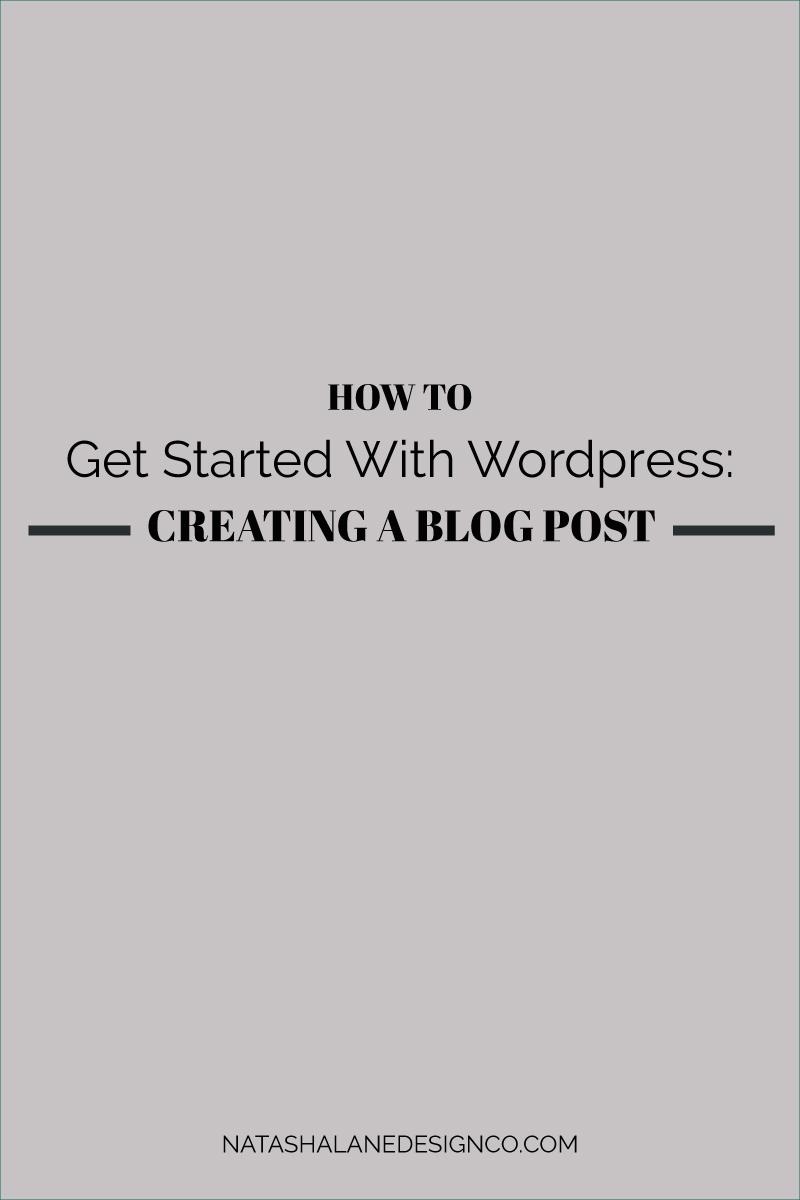 Creating a blog post in WordPress