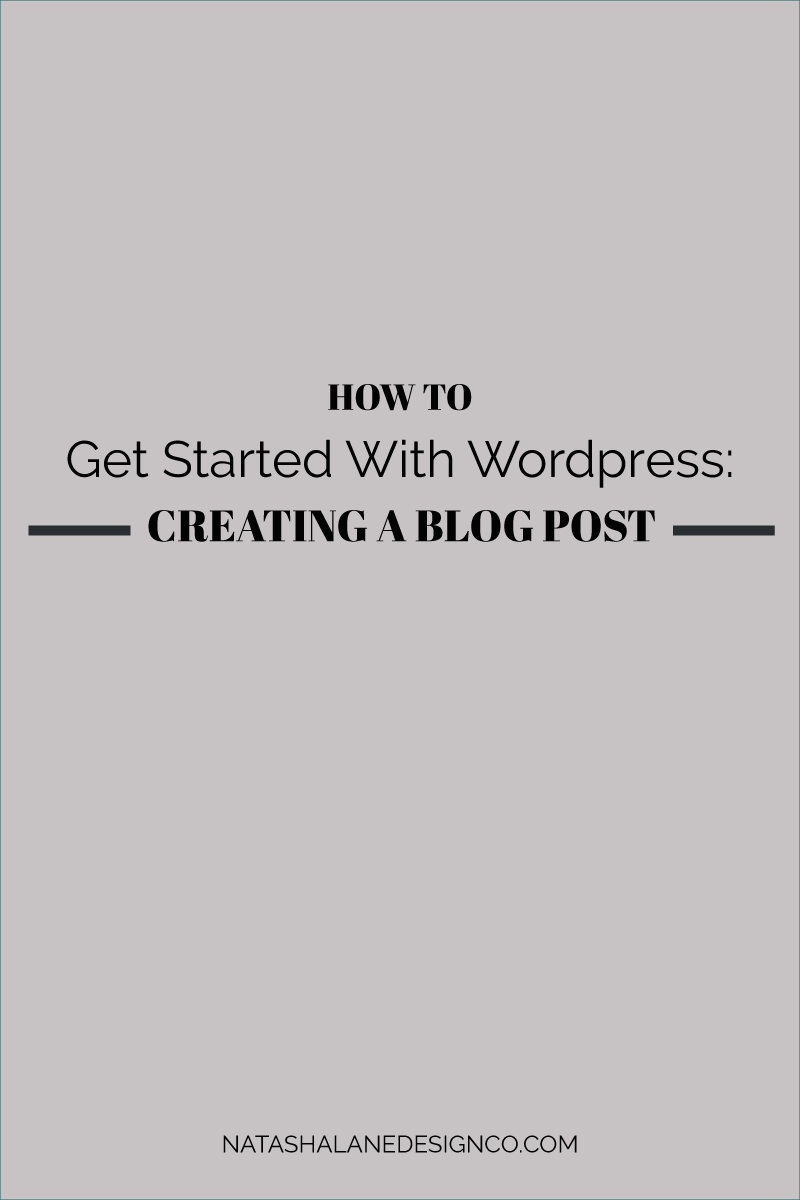 Creating a blog post in WordPress