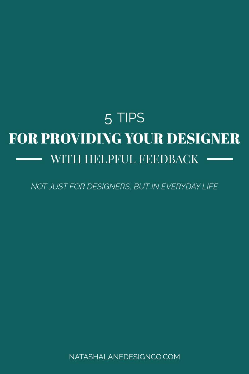 Tips For Providing Helpful Feedback