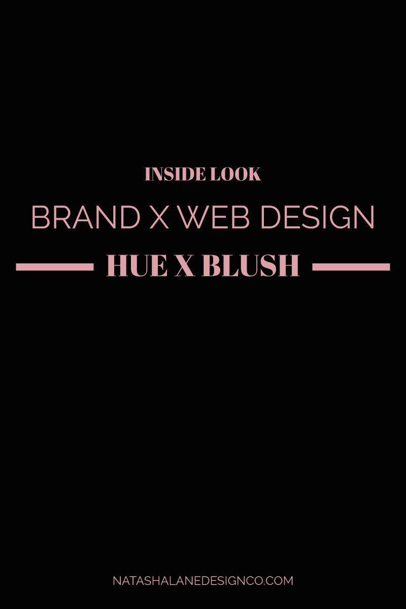 Brand x Web Design for Hue x Blush