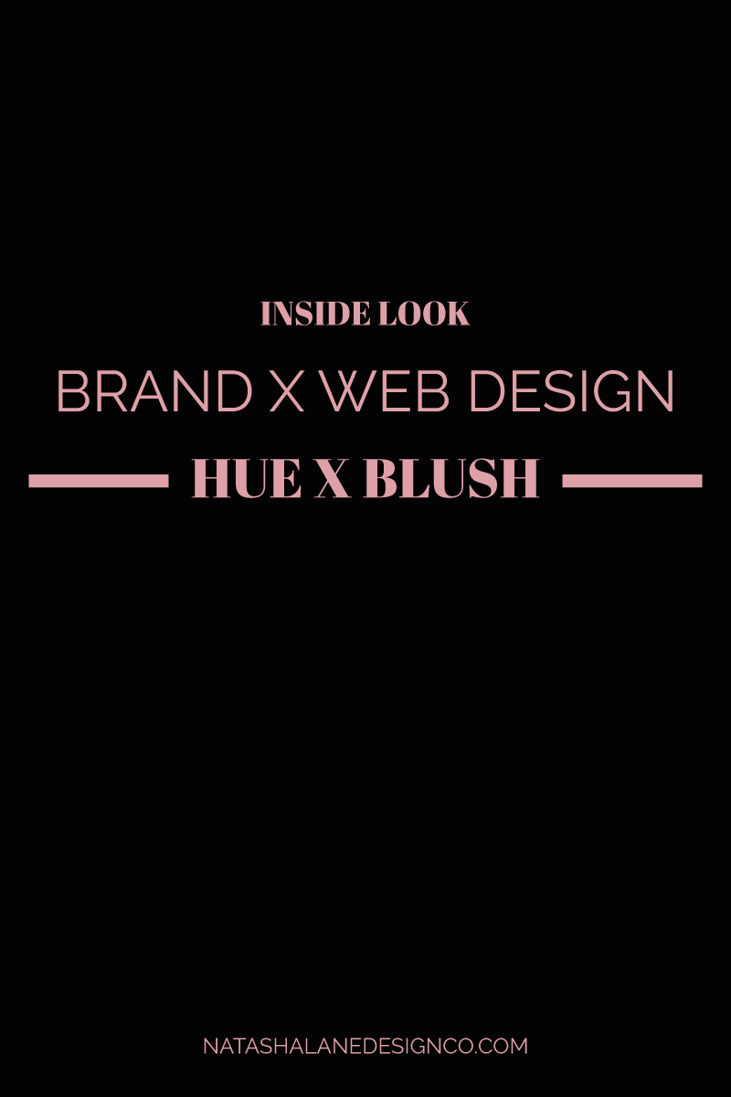 Brand x Web Design for Hue x Blush
