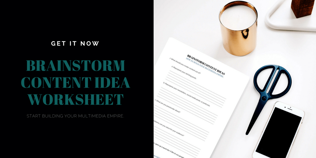 How to build your multimedia empire worksheet