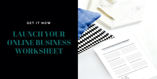 Launch your online business for under 200 worksheet