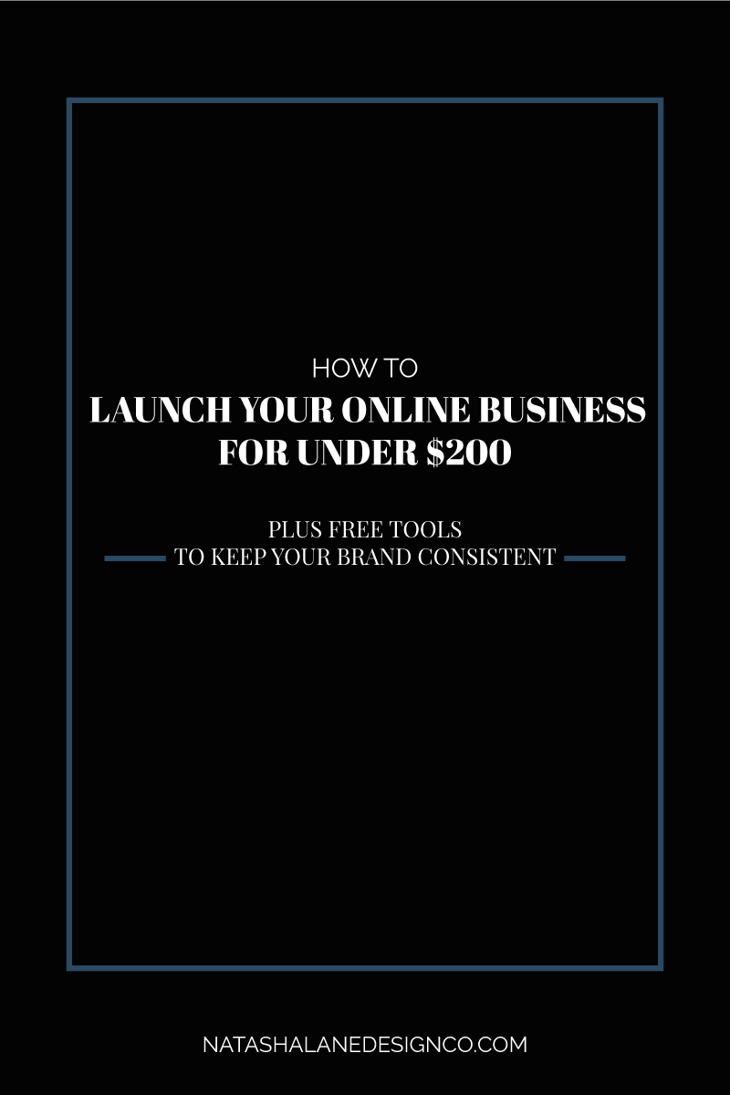 How to launch your online business for under 200 dollars