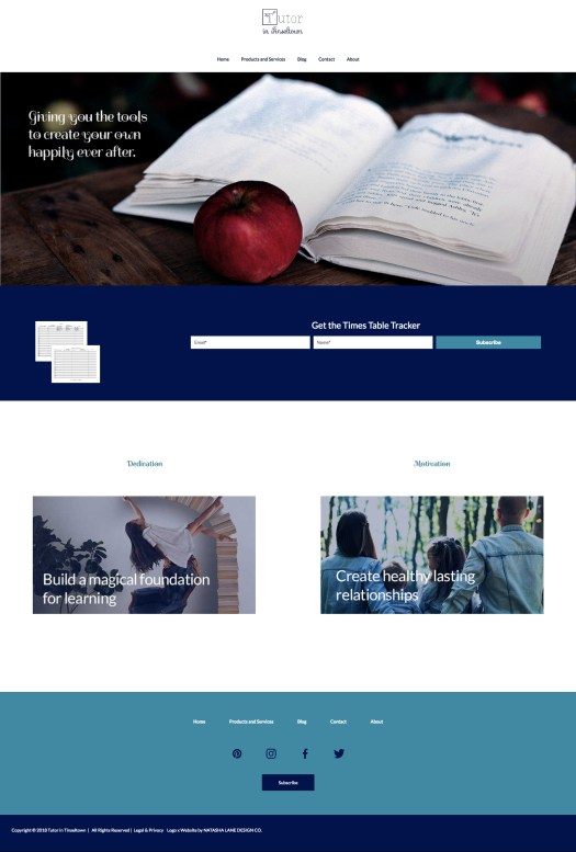 Brand x Web Design for Tutor in Tinseltown - Web Design