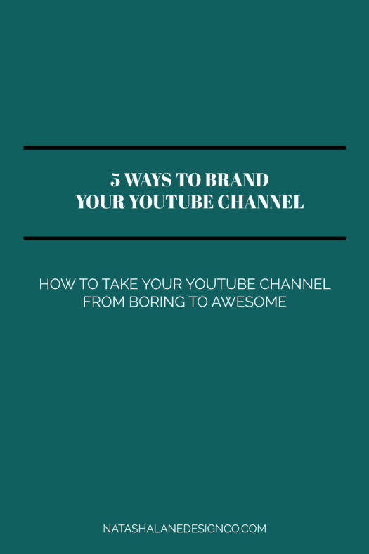 5 ways to brand your YouTube channel