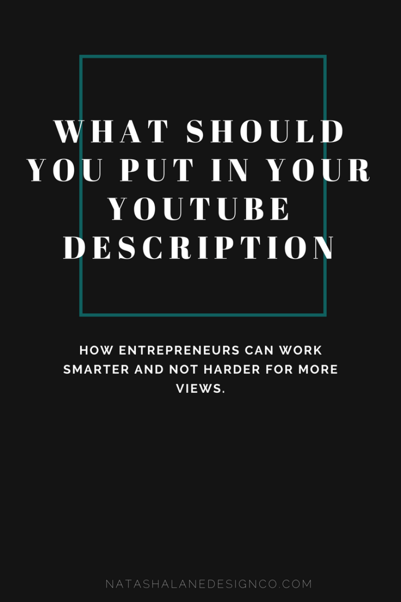 What should you put in your YouTube description?