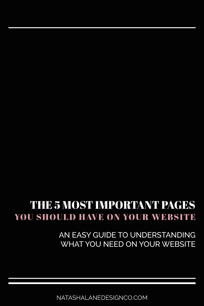 The 5 most important pages you should have on your website