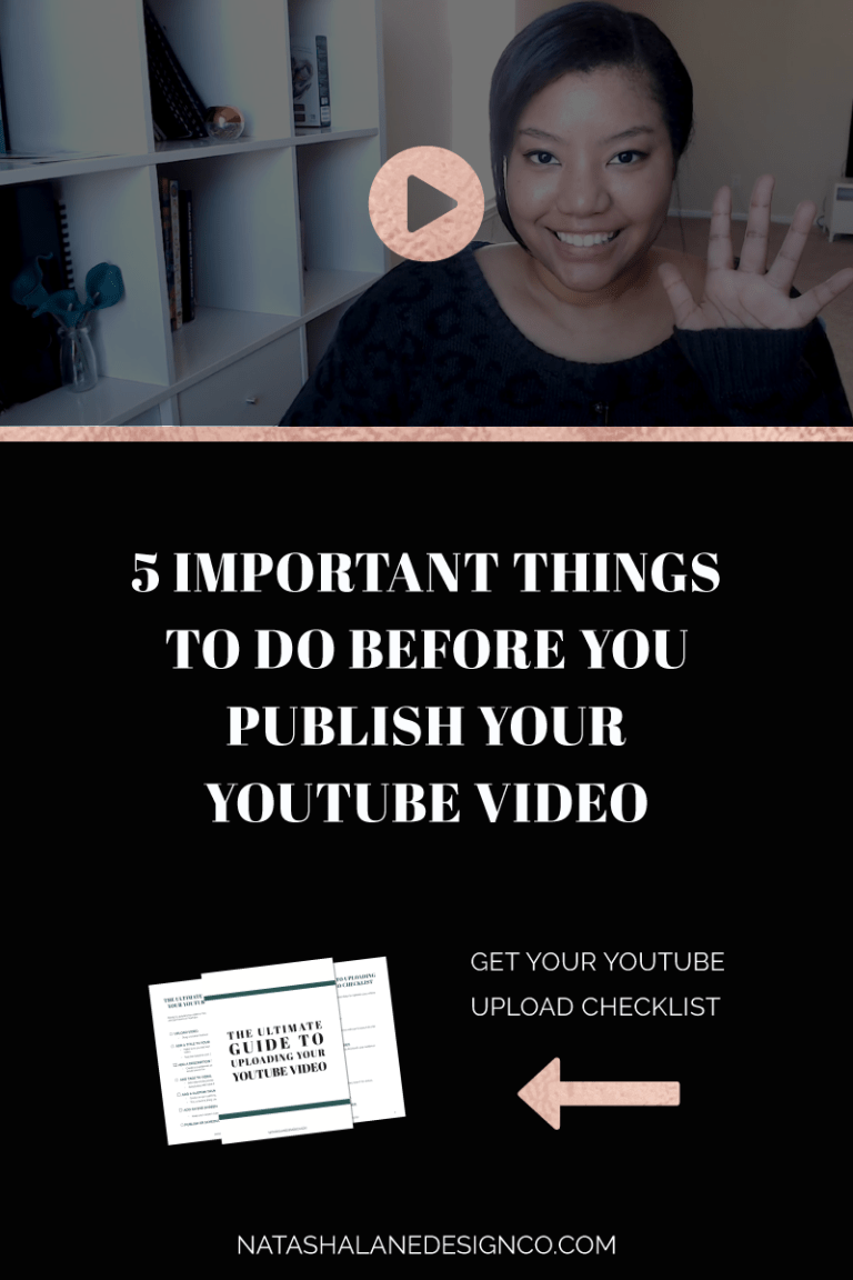 5 THINGS TO DO BEFORE YOU PUBLISH YOUR YOUTUBE VIDEO