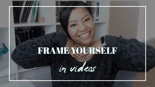 HOW TO FILM YOURSELF - CAMERA COMPOSITION