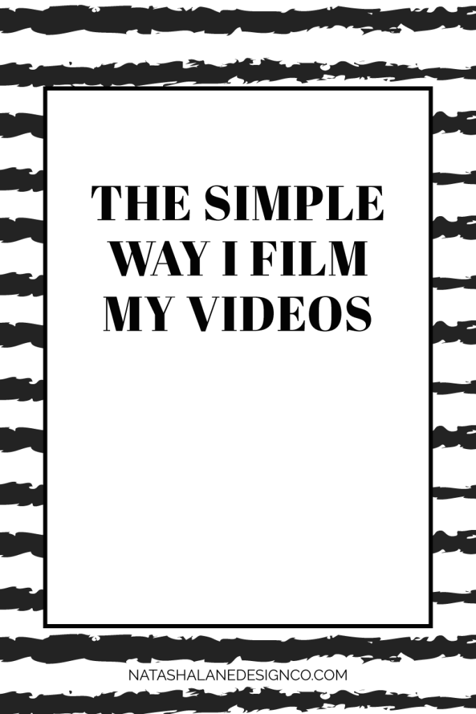 The simple way I film my videos 5