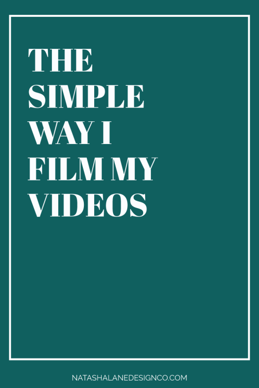The simple way I film my videos 2