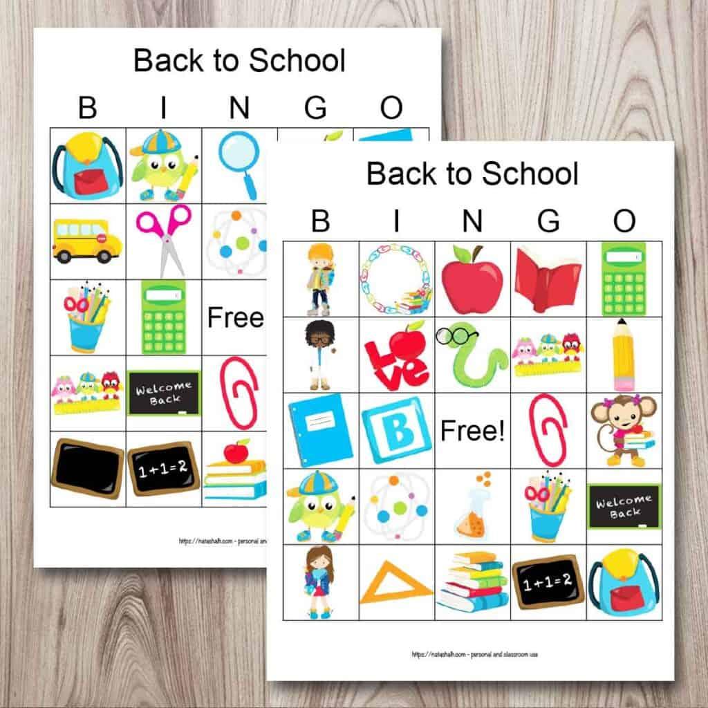 Free Printable Back To School Bingo Easy Icebreaker