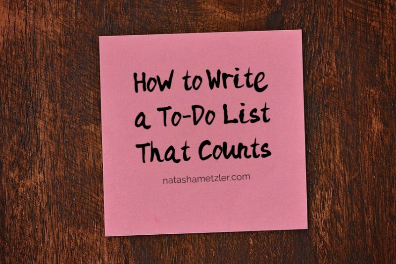 How to write a to-do list that counts