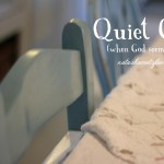 Quiet God (when God seems silent)