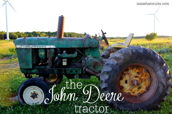 the John Deere tractor {The Thing About Dairy Farmers}
