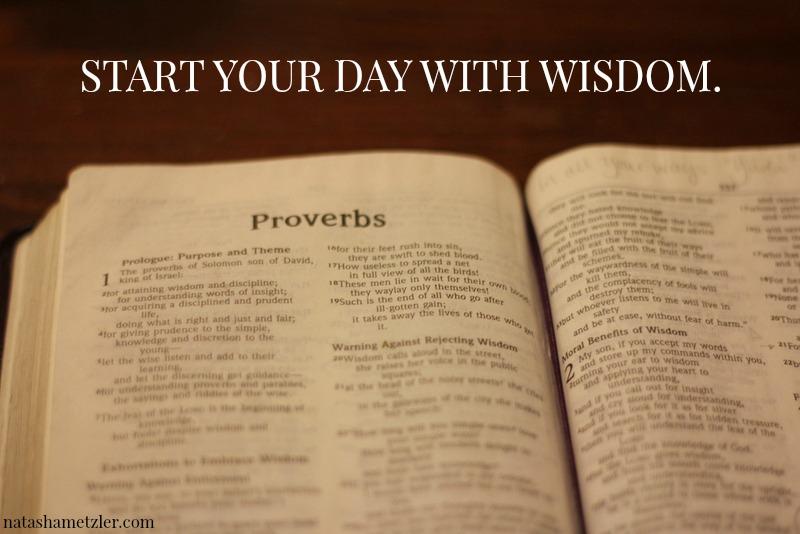 start your day with wisdom. @natashametzler