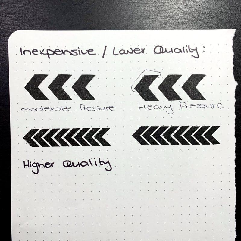 Stamp quality comparison