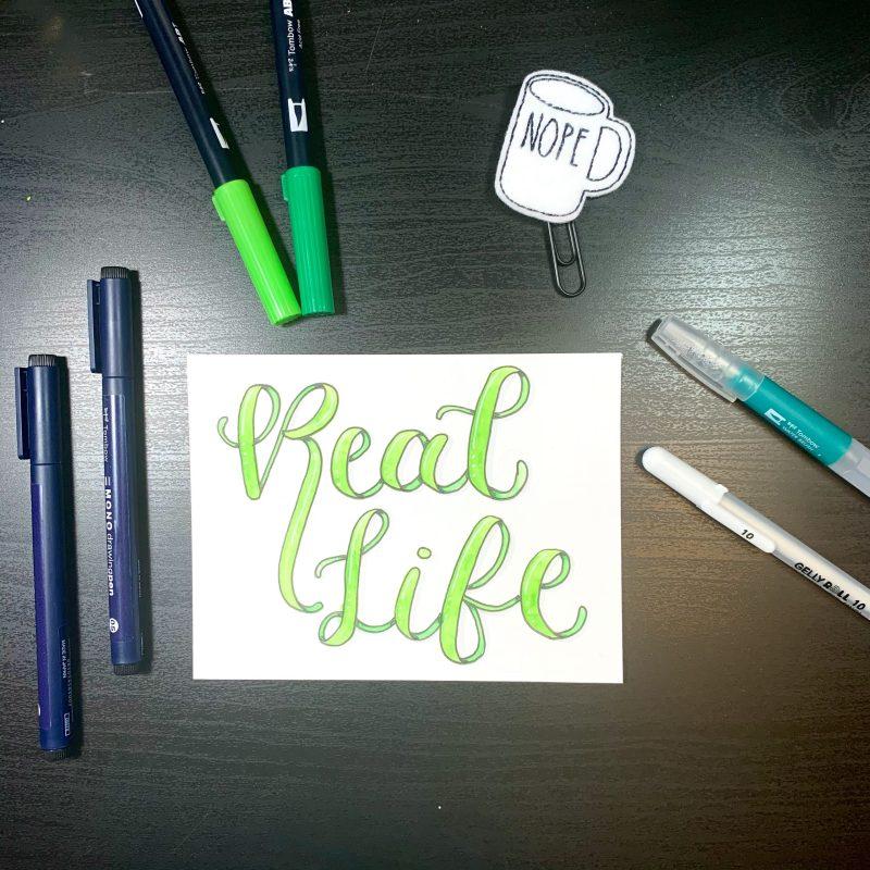 Modern Calligraphy Ribbon Lettering Tutorial