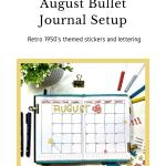 Monthly Bullet Journal Setup
