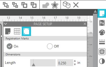 Cutting Stickers using a Silhouette Cameo - Page Setup Menu
