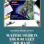 Watercolour in a Bullet Journal