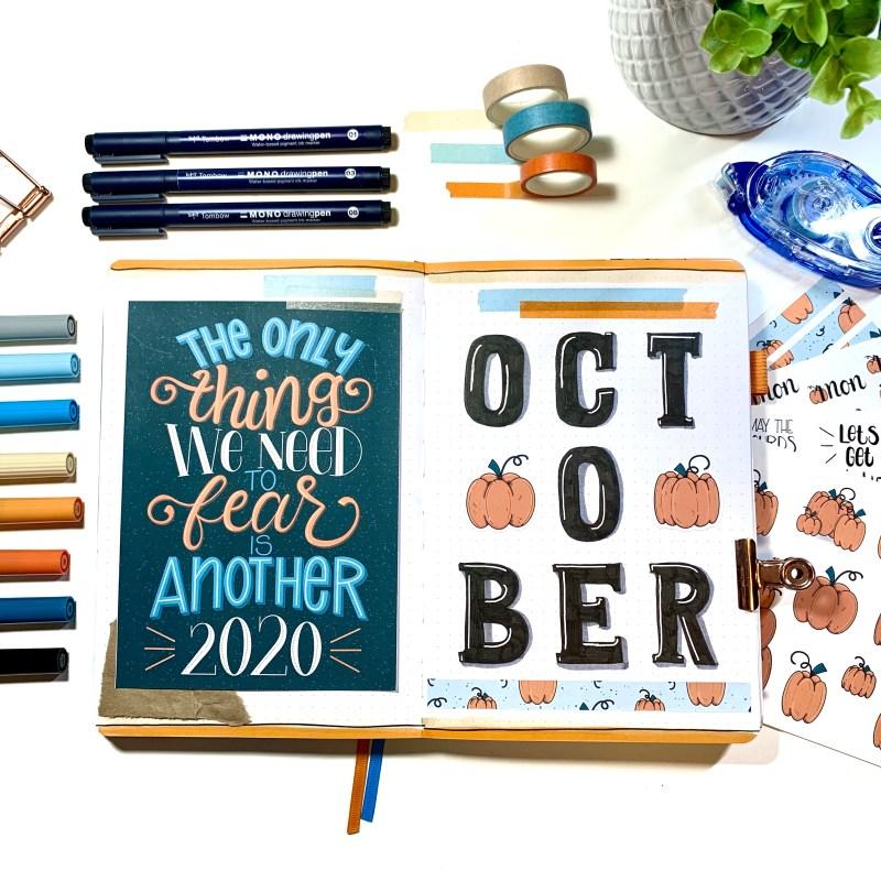 Pumpkin Bullet Journal Setup