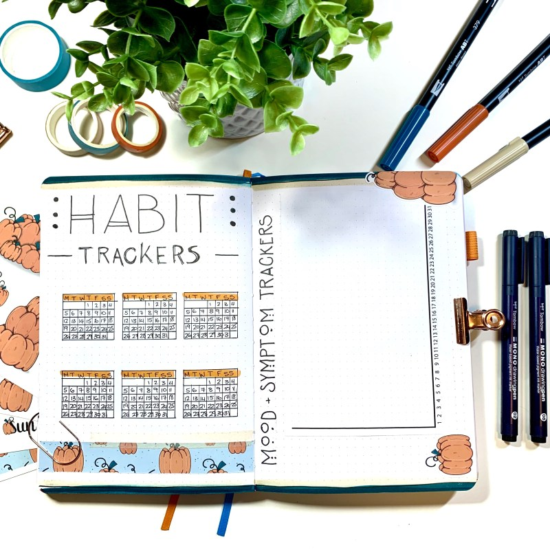 Three hand lettering ideas for October