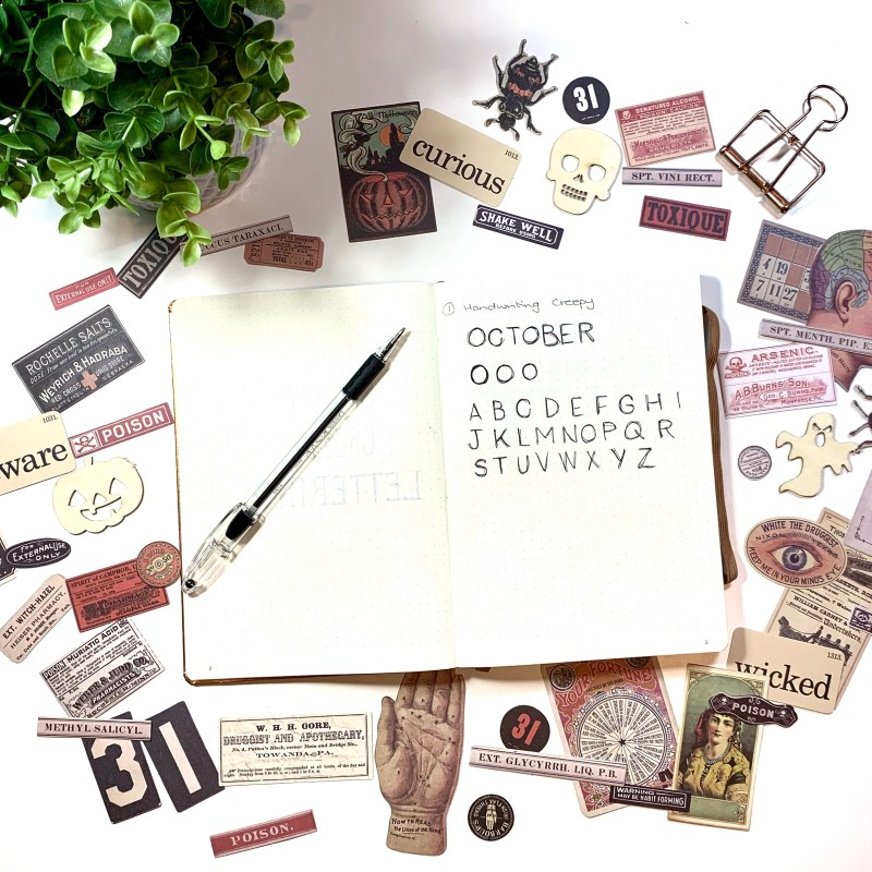 3 lettering ideas for October