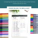 Fudenosuke and Pentel Touch Pen Comparison