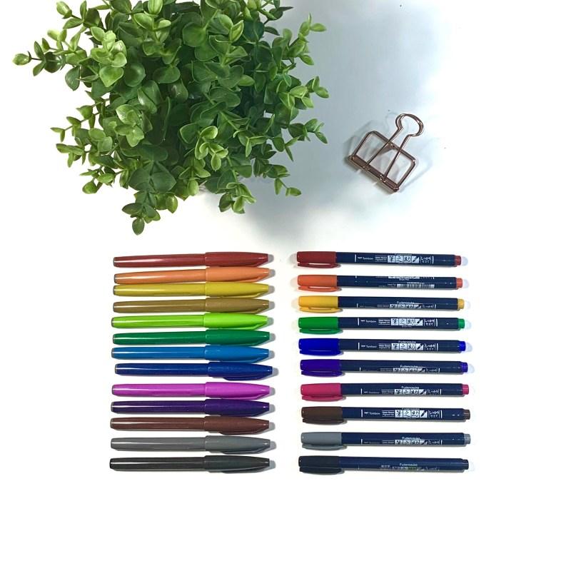Pentel vs Fudenosuke Brush Pen Review
