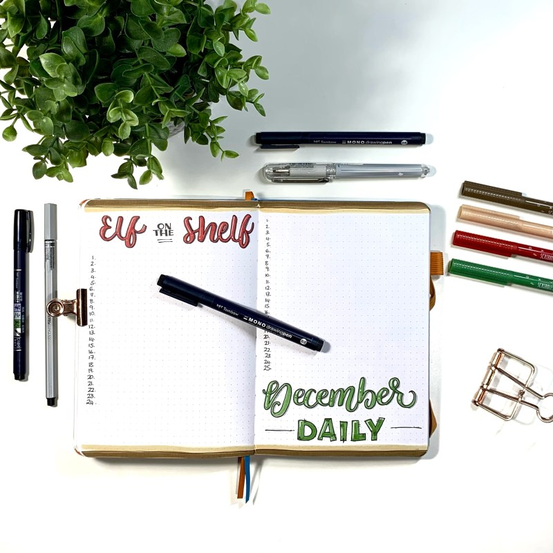 Holiday Planning in a Bullet Journal