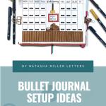 Love Themed Bullet Journal Setup