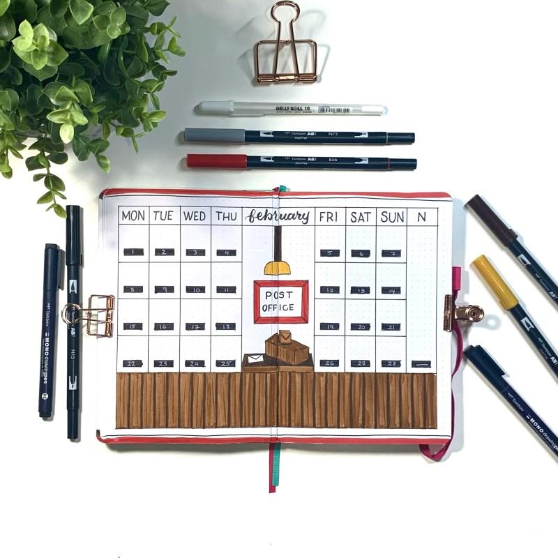 Mail themed Bullet Journal Setup