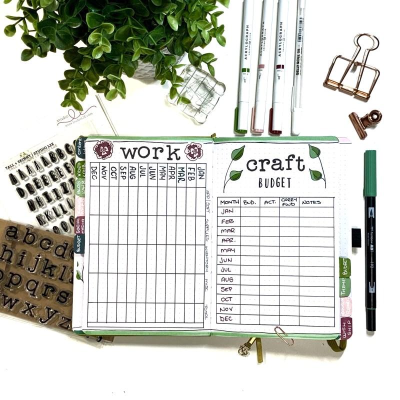 Bullet Journal Setup: Budget Layout