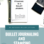 Stamping in a Bullet Journal