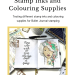 Colouring Stamp Inks