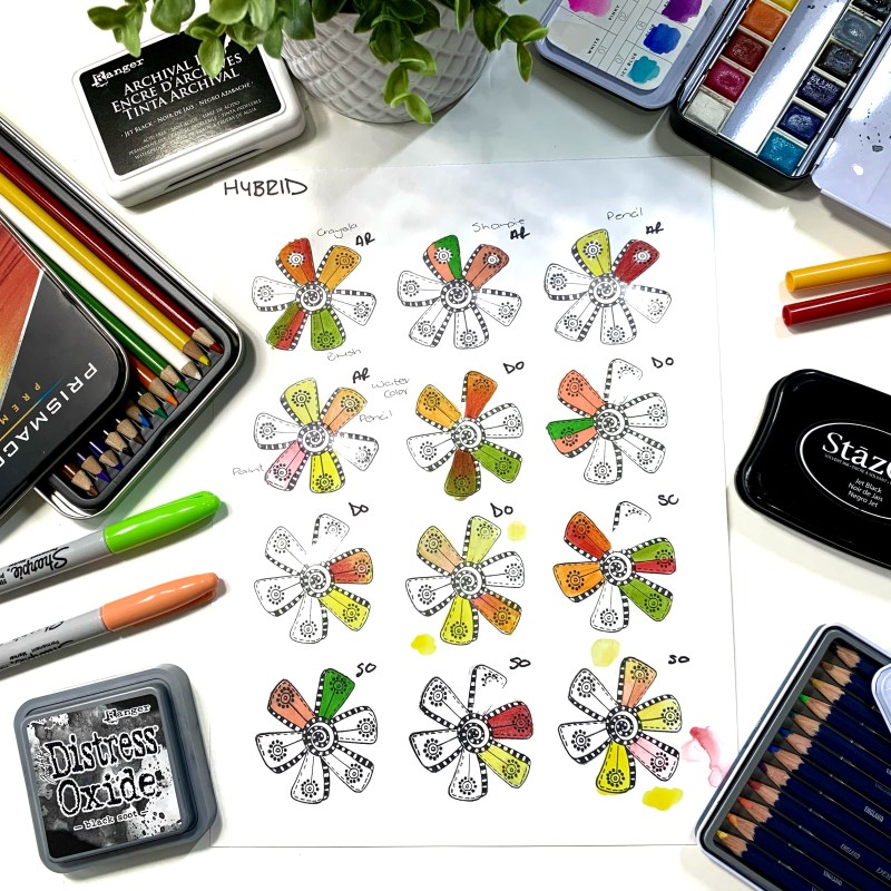Colouring Hybrid and Other Stamp Inks