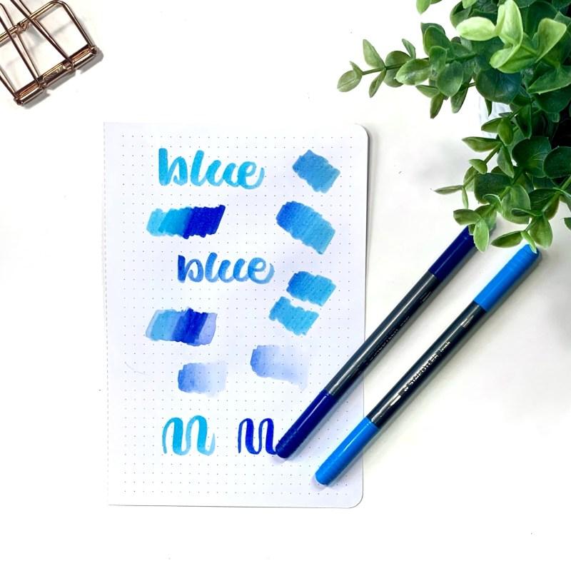Blending Staedtler Double-Ended Lettering Pen